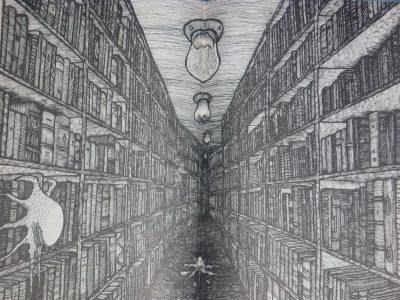 Zasnąć z książkami w tajemniczym labiryncie